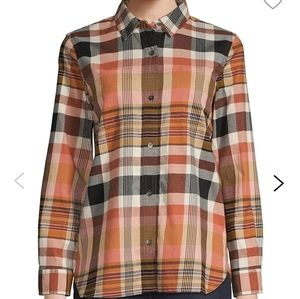 NWOT Madewell Classic Ex-Boyfriend Plaid Shirt